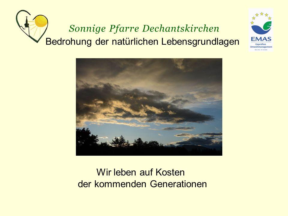 Sonnige Pfarre Dechantskirchen Probleme:  Denkmalschutz  Keine Förderung  Finanzierung auf Spendenbasis Errichtung einer pfarrlichen Photovoltaik-Anlage