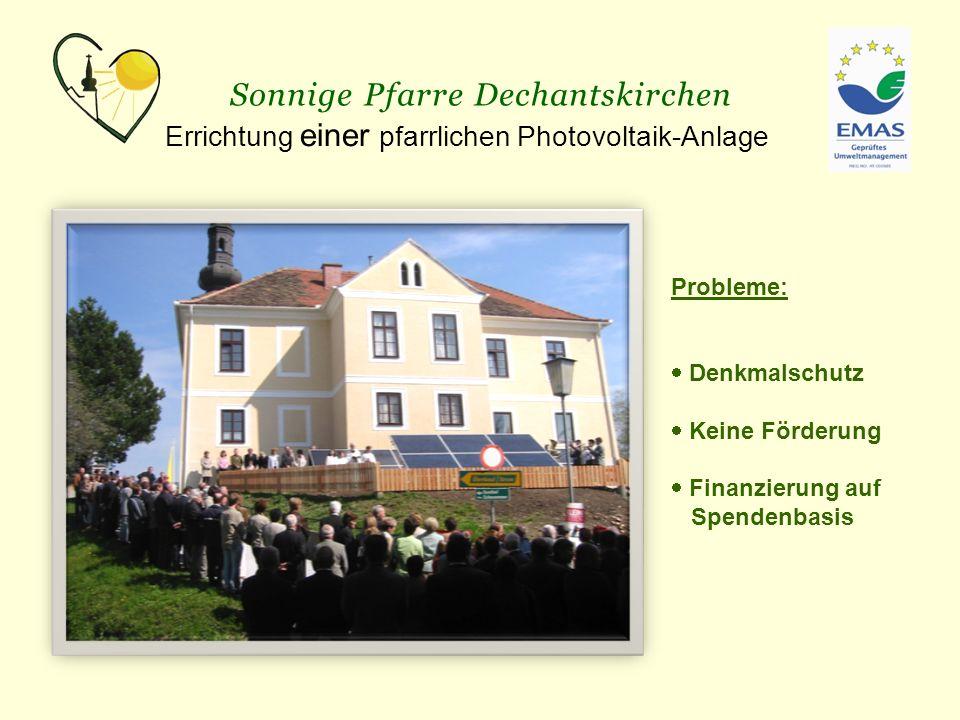 Sonnige Pfarre Dechantskirchen Zweite pfarrliche Photovoltaik-Anlage