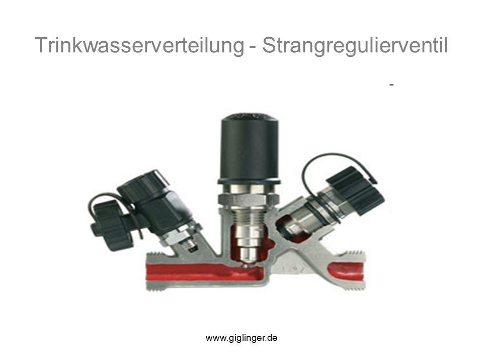 www.giglinger.de Trinkwasserverteilung - Strangregulierventil