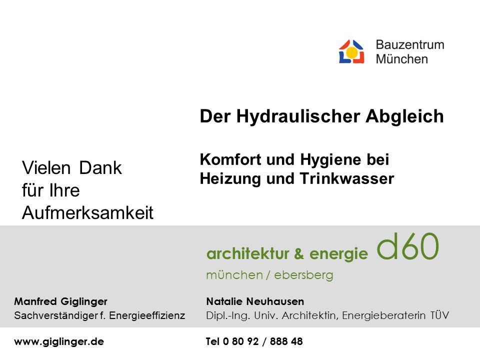 architektur & energie d60 münchen / ebersberg Manfred Giglinger Natalie Neuhausen Sachverständiger f.
