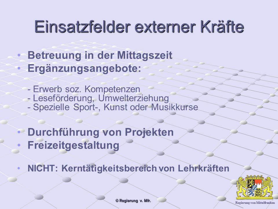 Regierung von Mittelfranken © Regierung v.Mfr. Ehrenamt an Ganztagsschulen Wer.