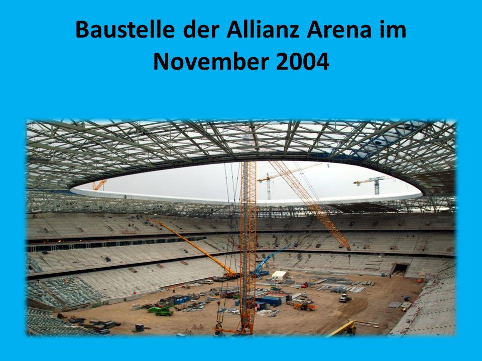 Baustelle der Allianz Arena im November 2004