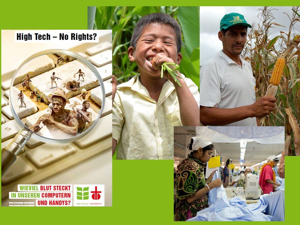 Der Entwicklungsdienst mischt sich ein, wenn es… … um das Recht auf Nahrung geht … um faires Wirtschaften geht