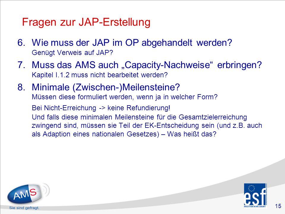 15 Fragen zur JAP-Erstellung 6.Wie muss der JAP im OP abgehandelt werden.