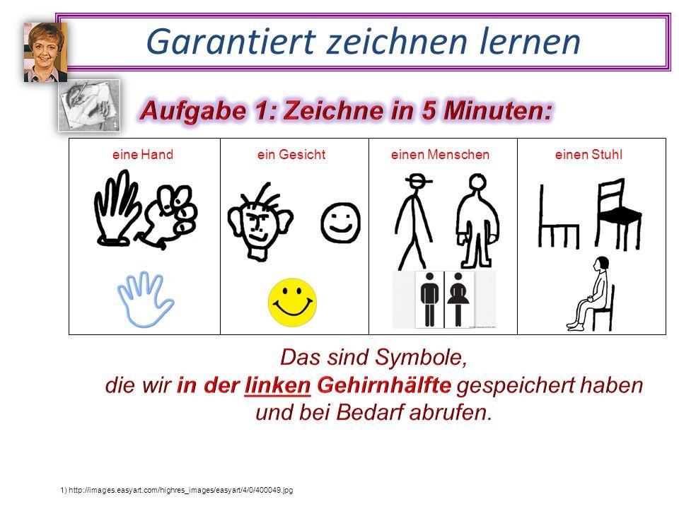 Garantiert zeichnen lernen 1) http://images.easyart.com/highres_images/easyart/4/0/400049.jpg 1 eine Handein Gesichteinen Menscheneinen Stuhl