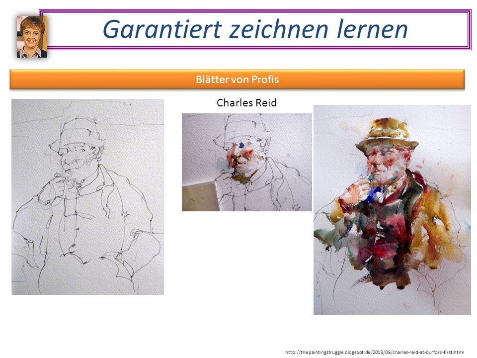 Garantiert zeichnen lernen Blätter von Profis Charles Reid http://thepaintingstruggle.blogspot.de/2013/05/charles-reid-at-burford-first.html