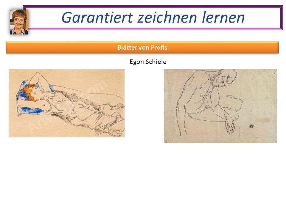 Garantiert zeichnen lernen Blätter von Profis Egon Schiele