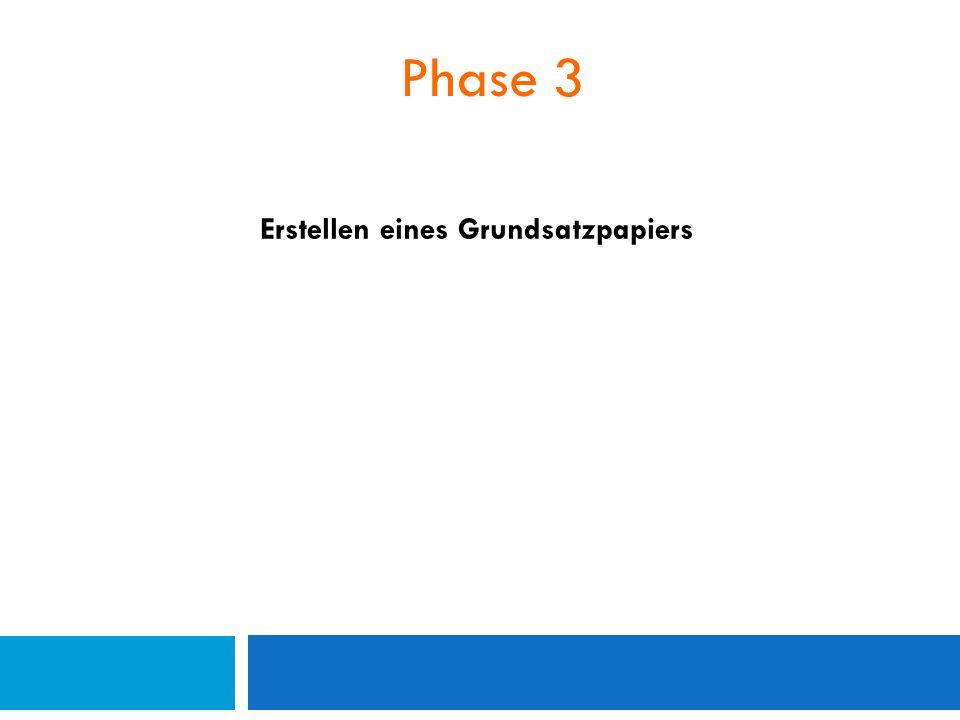 Phase 3 Erstellen eines Grundsatzpapiers