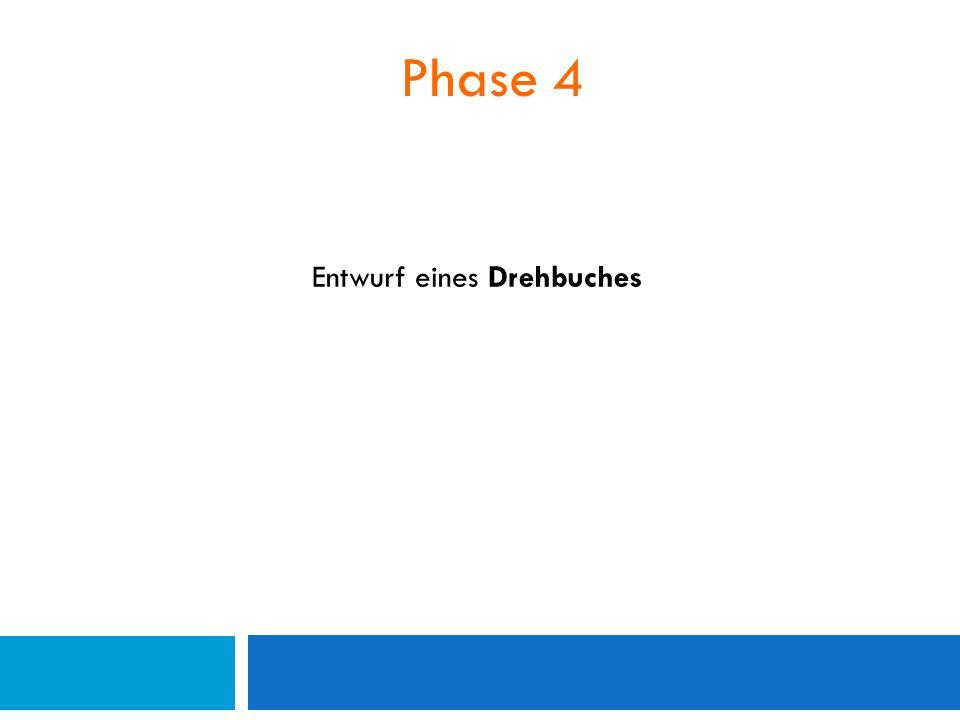 Phase 4 Entwurf eines Drehbuches