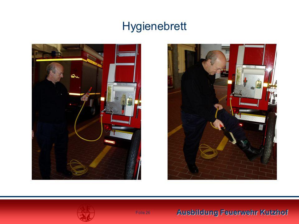 Ausbildung Feuerwehr Kutzhof Folie 26 Hygienebrett