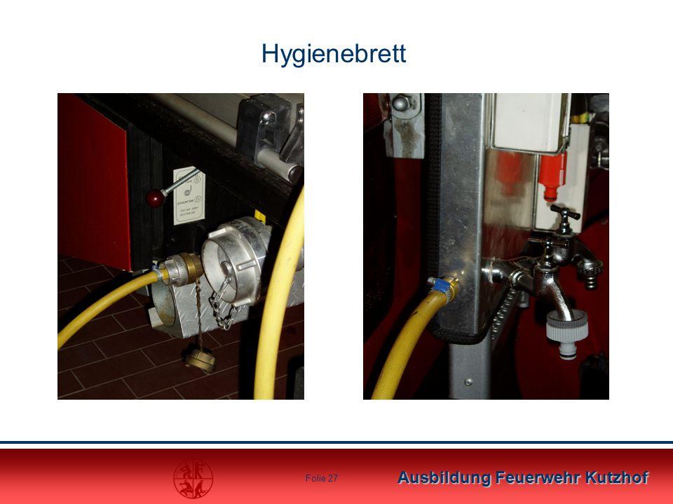 Ausbildung Feuerwehr Kutzhof Folie 27 Hygienebrett