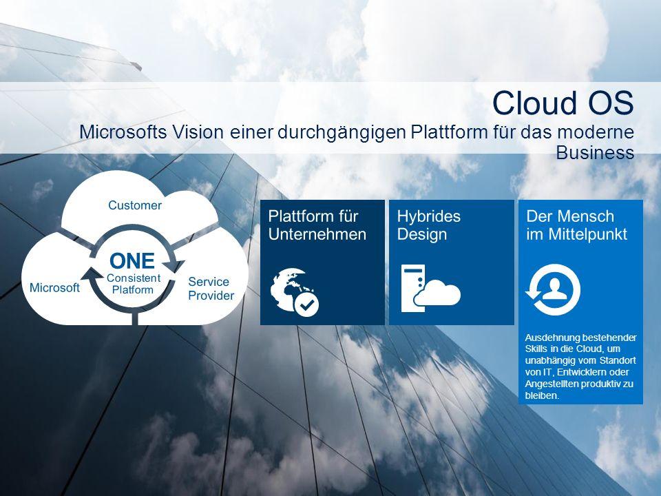 Ausdehnung bestehender Skills in die Cloud, um unabhängig vom Standort von IT, Entwicklern oder Angestellten produktiv zu bleiben.