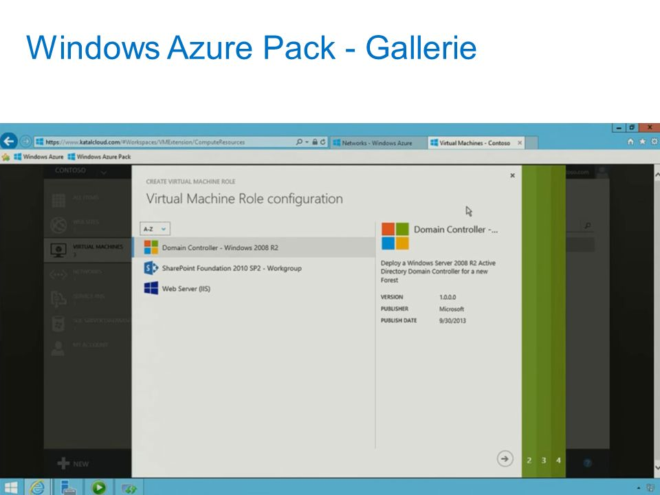 Windows Azure Pack - Gallerie