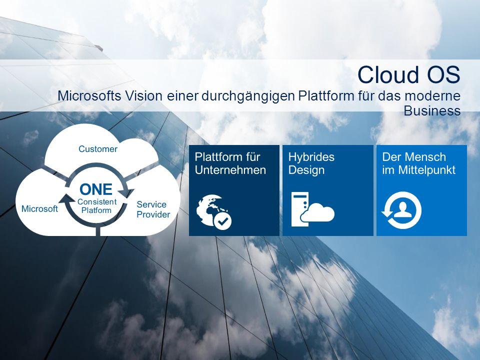 Cloud OS Microsofts Vision einer durchgängigen Plattform für das moderne Business