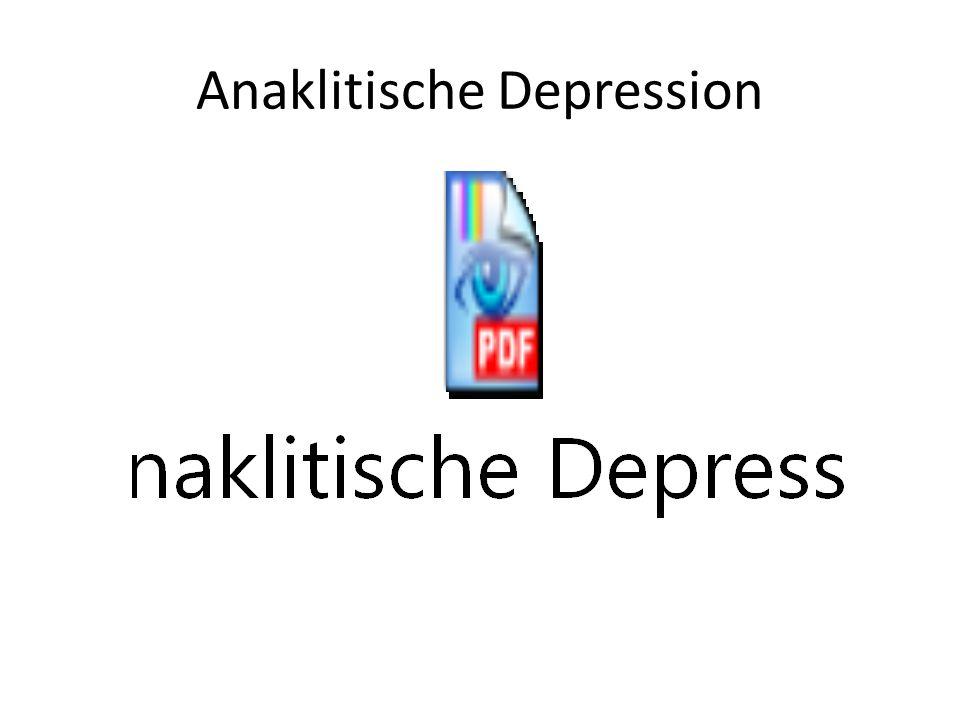 Anaklitische Depression