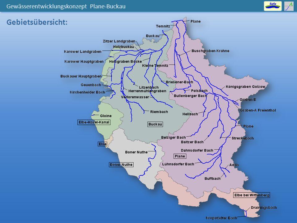 Gewässerentwicklungskonzept Plane-Buckau Gebietsübersicht: