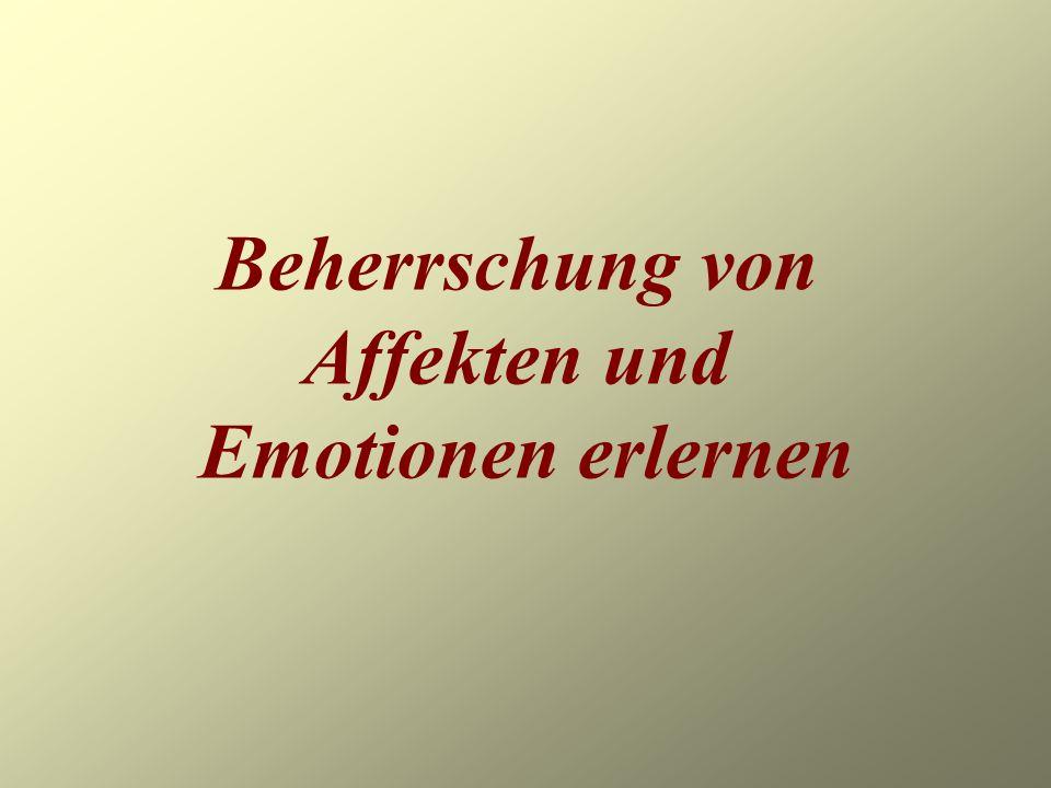 Beherrschung von Affekten und Emotionen erlernen