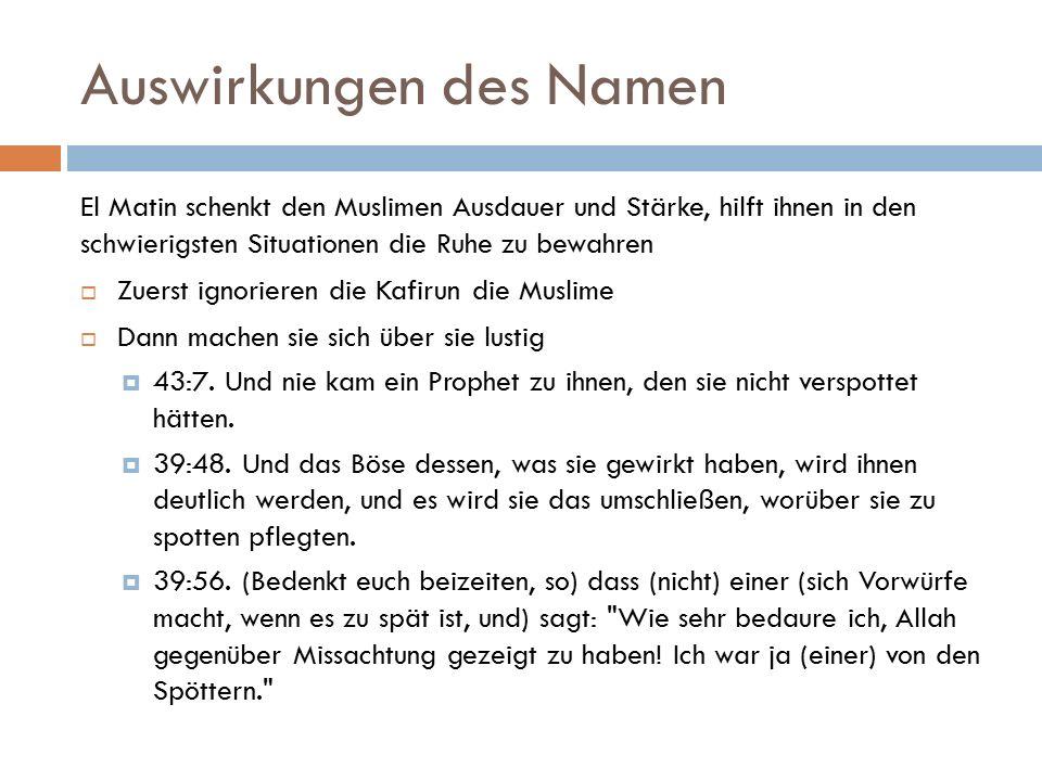 Auswirkungen des Namen  Hiernach fängt die Zeit der Folter an  16:41.
