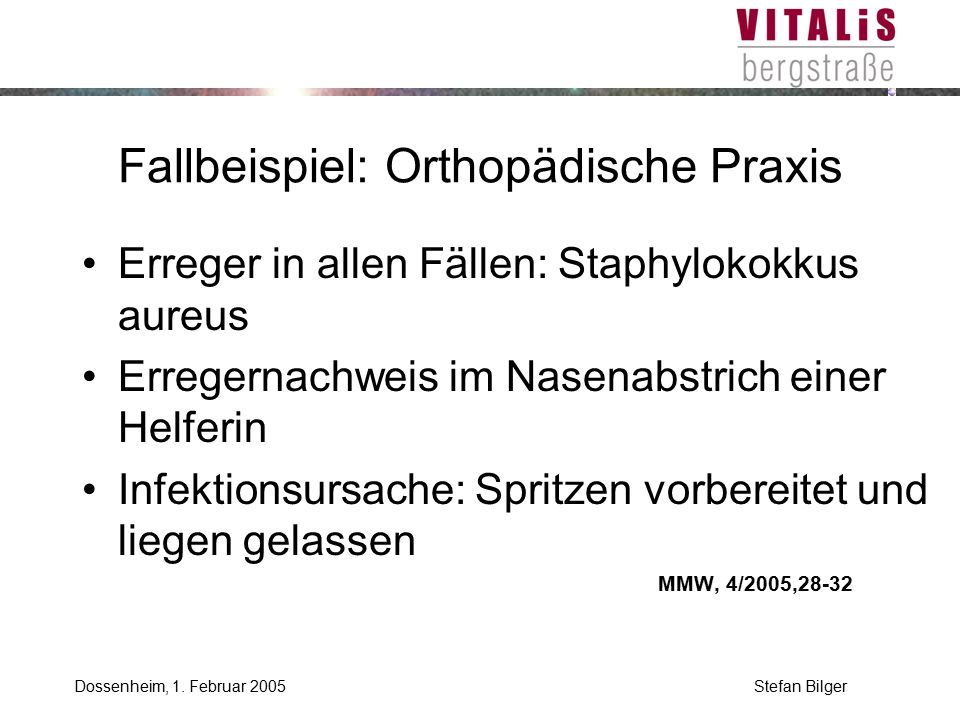 Stefan BilgerDossenheim, 1. Februar 2005 Risikopatient?
