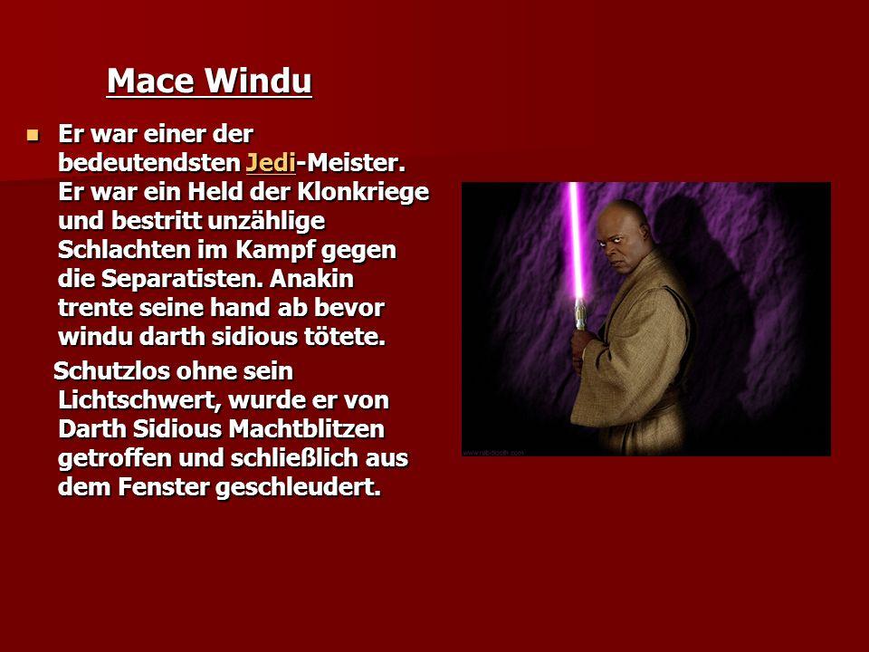 Mace Windu Er war einer der bedeutendsten J J J J J eeee dddd iiii-Meister.
