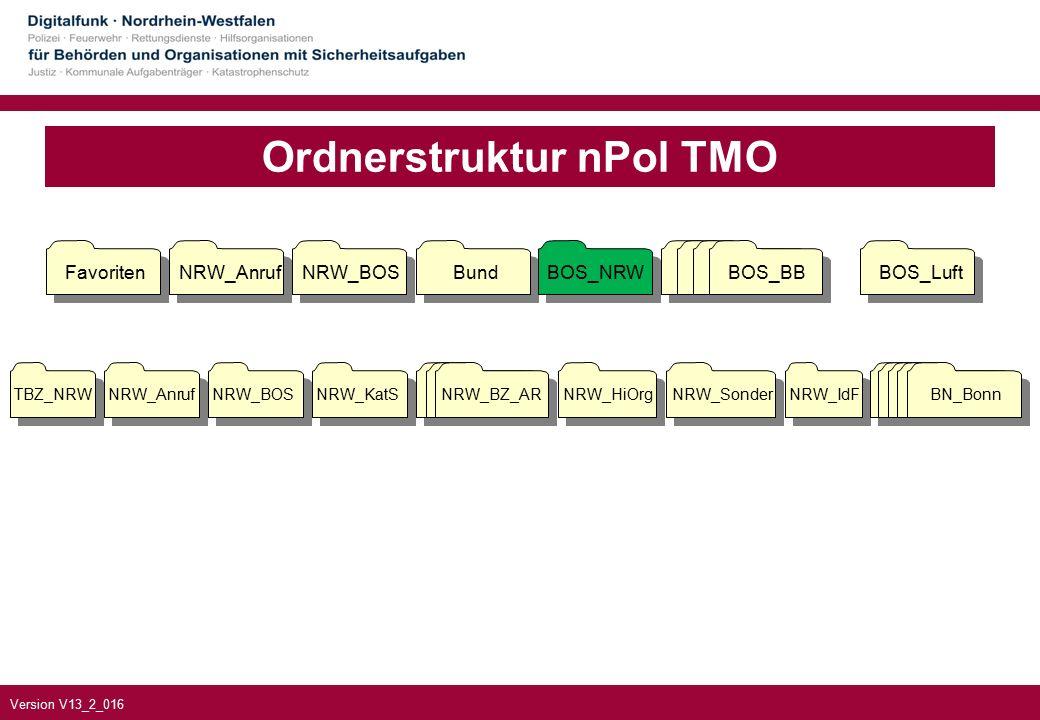 Version V13_2_016 NRW_BZ_AR NRW_KatS Ordnerstruktur nPol TMO NRW_HiOrg NRW_Sonder NRW_IdF FavoritenNRW_AnrufNRW_BOSBundBOS_NRWBOS_BBBOS_Luft BOS_BB TBZ_NRW NRW_Anruf NRW_BOS BN_Bonn
