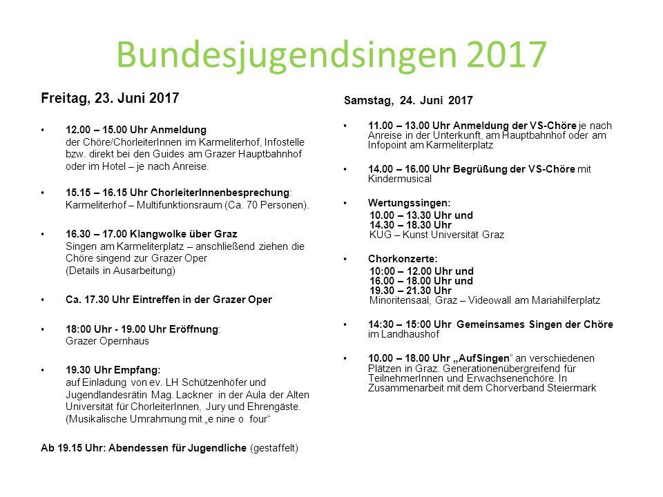 Bundesjugendsingen 2017 Freitag, 23.