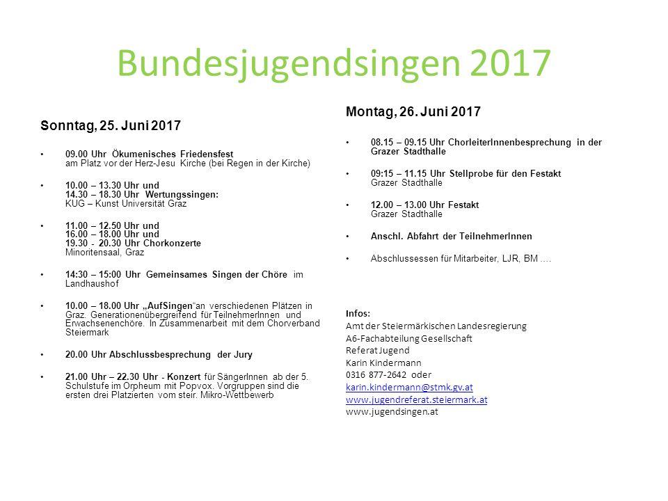 Bundesjugendsingen 2017 Sonntag, 25.