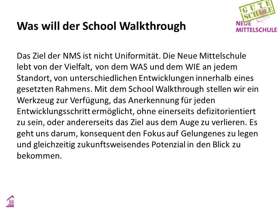 Das Ziel der NMS ist nicht Uniformität. Die Neue Mittelschule lebt von der Vielfalt, von dem WAS und dem WIE an jedem Standort, von unterschiedlichen