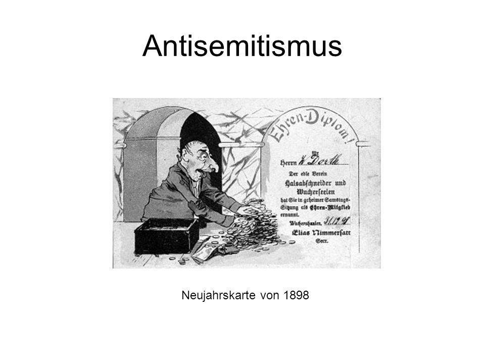 Antisemitismus Neujahrskarte von 1898