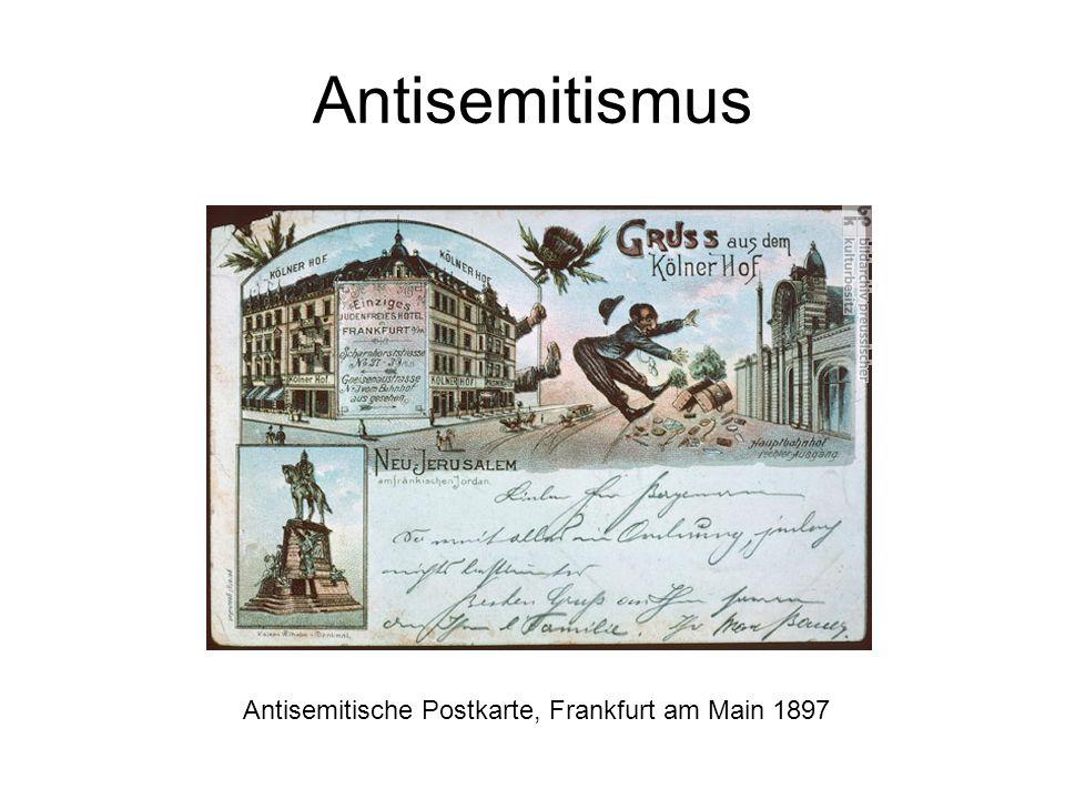 Antisemitismus Antisemitische Postkarte, Frankfurt am Main 1897