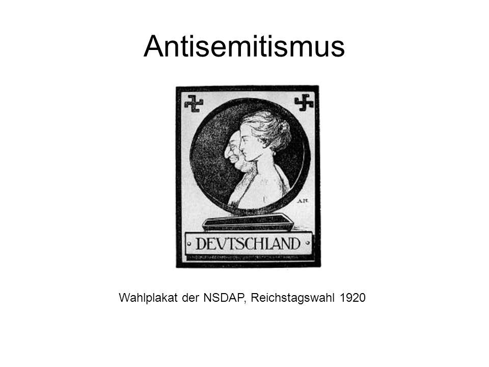 Antisemitismus Wahlplakat der NSDAP, Reichstagswahl 1920