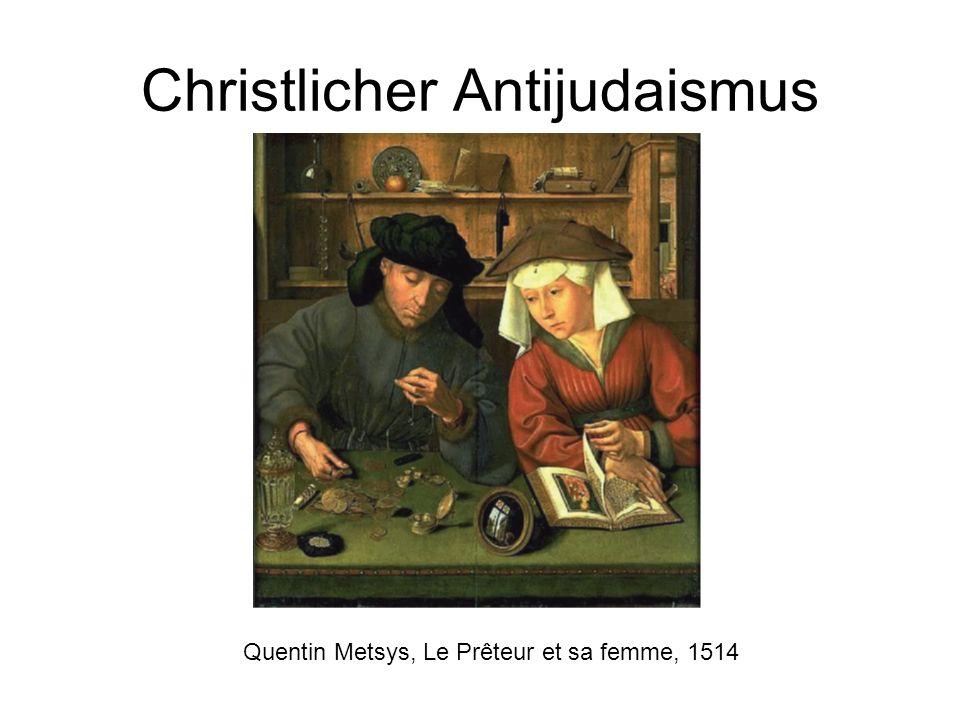 Christlicher Antijudaismus Quentin Metsys, Le Prêteur et sa femme, 1514