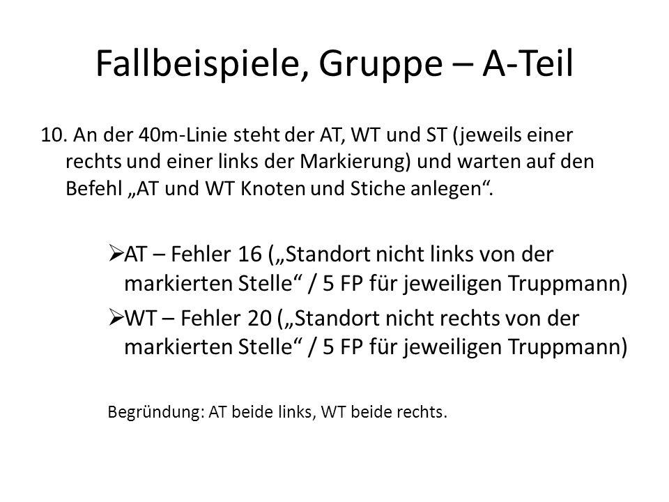 Fallbeispiele, Gruppe – A-Teil 10.