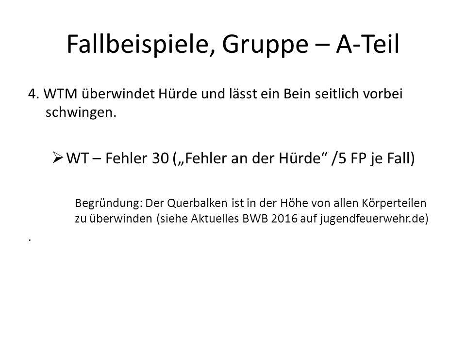 Fallbeispiele, Gruppe – A-Teil 4.