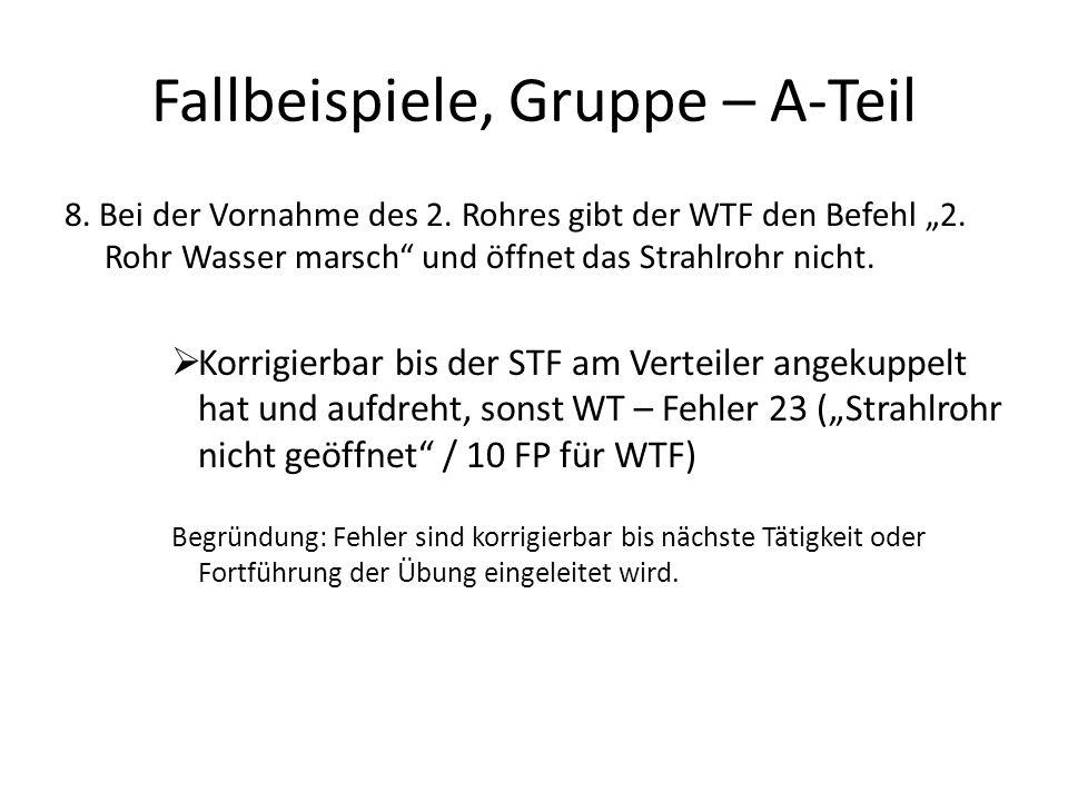 Fallbeispiele, Gruppe – A-Teil 9.