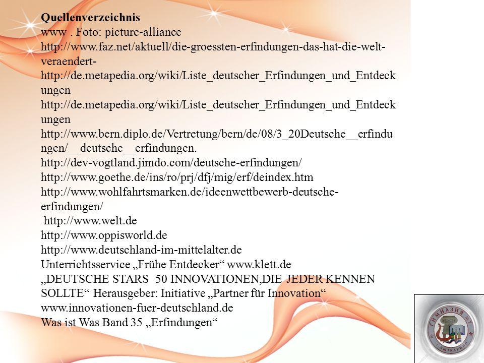 Quellenverzeichnis www.