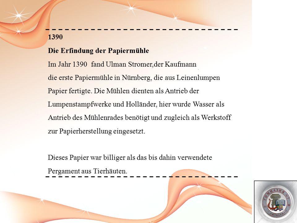 1440 Der Buchdruck.