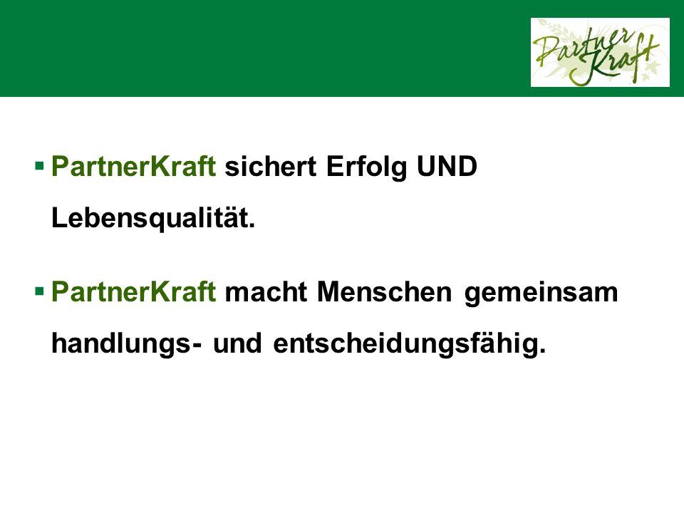 PartnerKraft Das Programm der Landwirtschaftskammer Niederösterreich für kraftvolle Partnerschaften am Land
