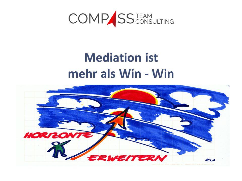 Mediation ist mehr als Win - Win