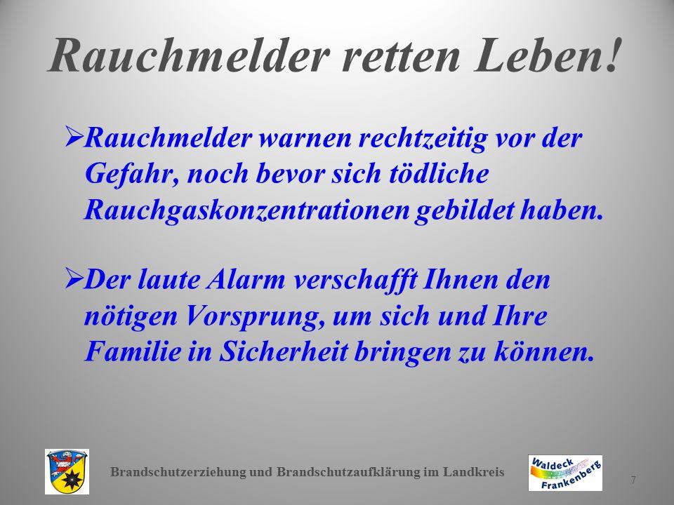 Brandschutzerziehung und Brandschutzaufklärung im Landkreis 18 Weitere Verhaltensregeln.