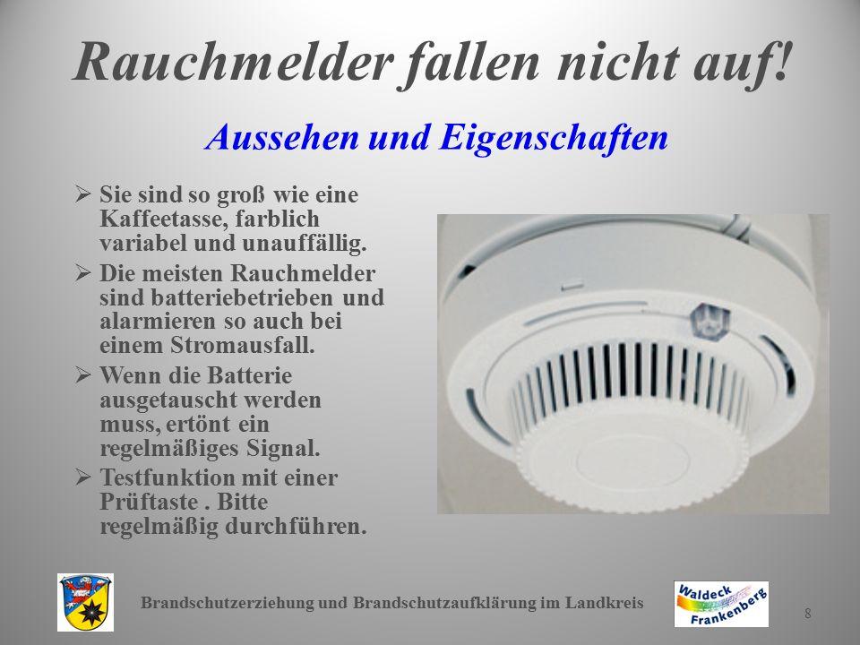 Brandschutzerziehung und Brandschutzaufklärung im Landkreis 9 Wo installiert man Rauchmelder.