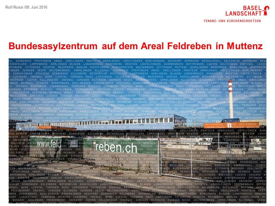 12 Nutzung im Grundsatz  Kanton vermietet Bund das Objekt Feldreben, um es als temporäres Bundesasylzentrum zu nutzen.