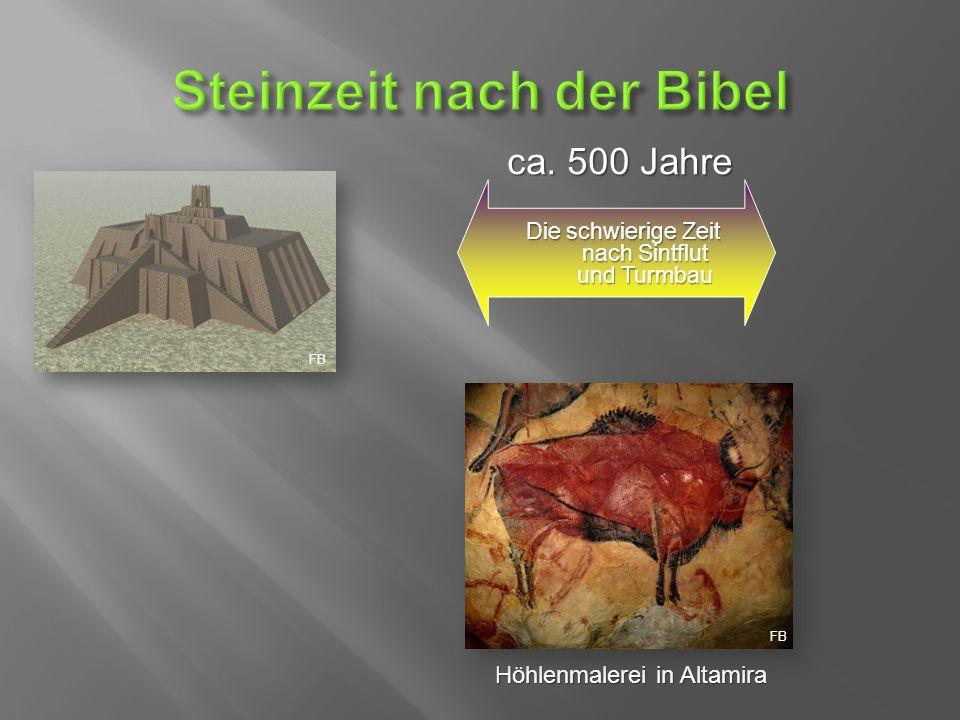 Die schwierige Zeit nach Sintflut und Turmbau Höhlenmalerei in Altamira ca. 500 Jahre FB
