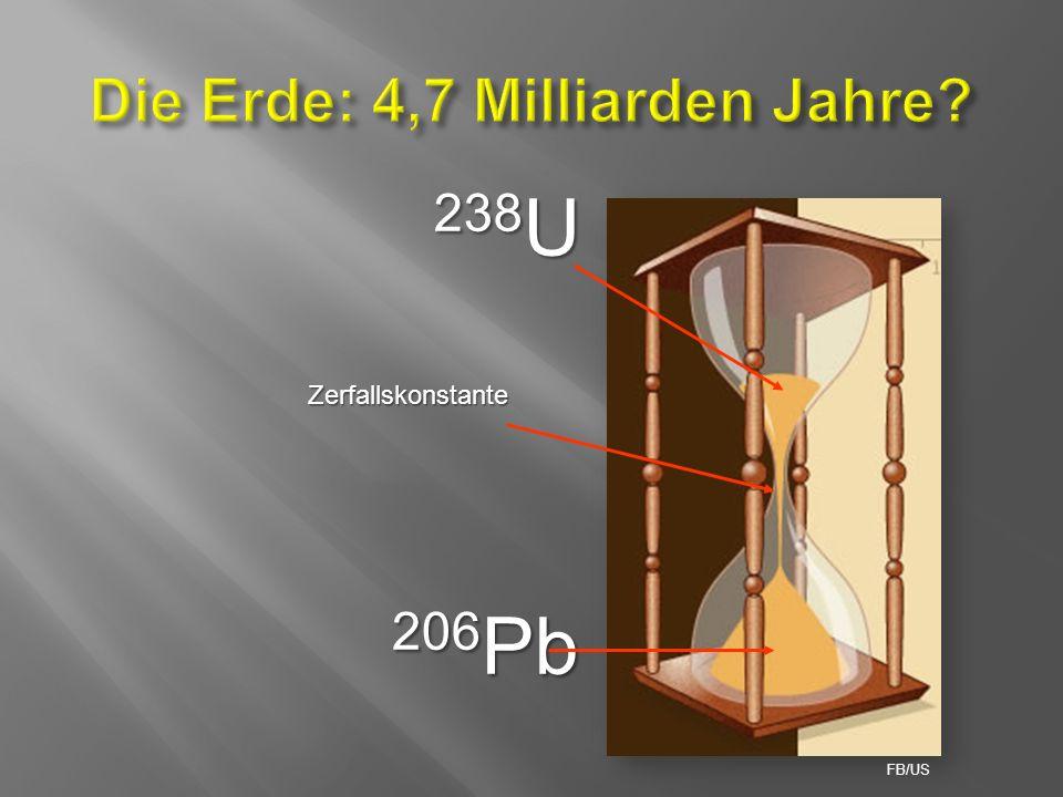 238 U 206 Pb Zerfallskonstante FB/US
