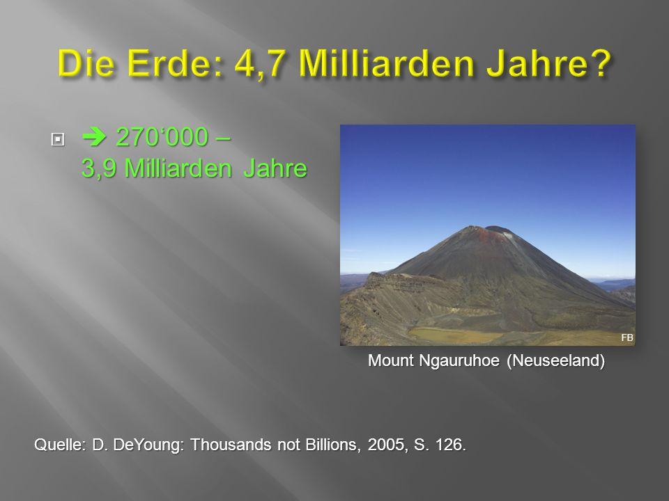   270'000 – 3,9 Milliarden Jahre Mount Ngauruhoe (Neuseeland) FB Quelle: D.