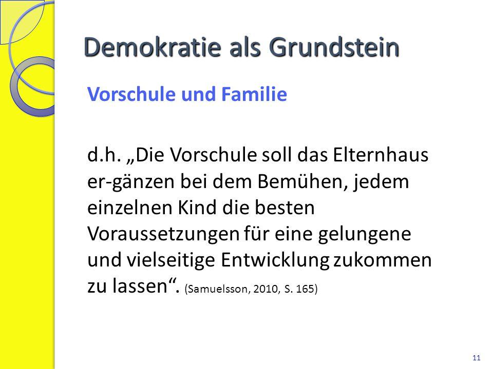 Demokratie als Grundstein Kooperation mit der Schule d.h.