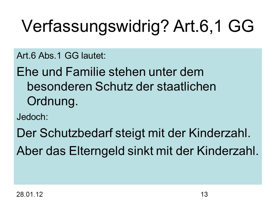 28.01.1213 Verfassungswidrig.