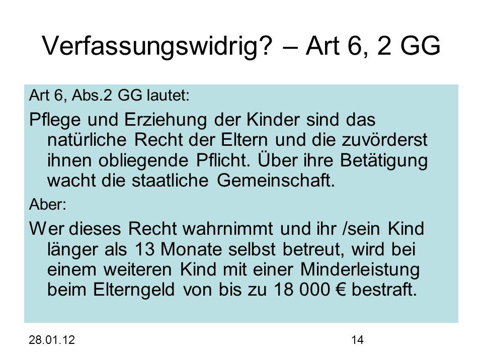 28.01.1214 Verfassungswidrig.
