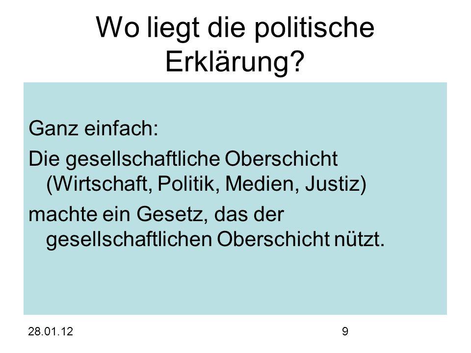 28.01.129 Wo liegt die politische Erklärung.