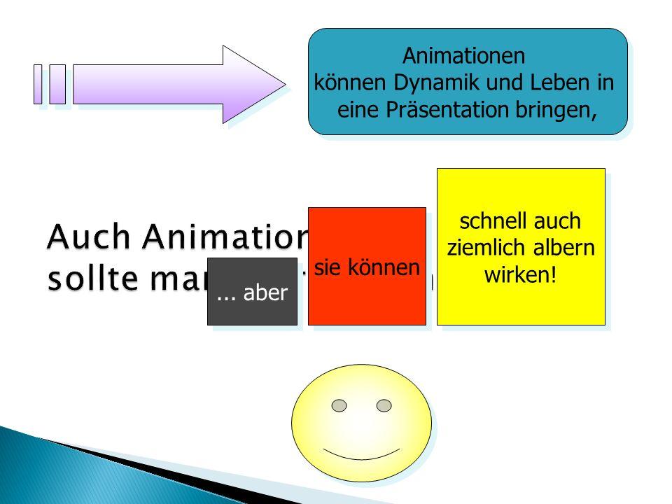 Im Gegensatz zu den Möglichkeiten früherer Jahre, bietet PowerPoint nahezu unzählige Optionen der Visualisierung.